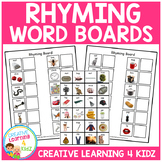 Rhyming Word Matching Boards