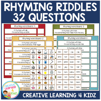 Rhyming Riddles Question Boards