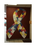 Autism Awareness Ribbon Giant Wall Resource