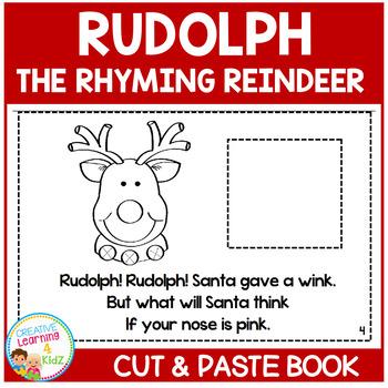 Rudolph the Rhyming Reindeer Christmas Cut & Paste Book