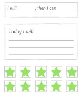Autism/SPED behavior/motivational chart for daily use/reuse