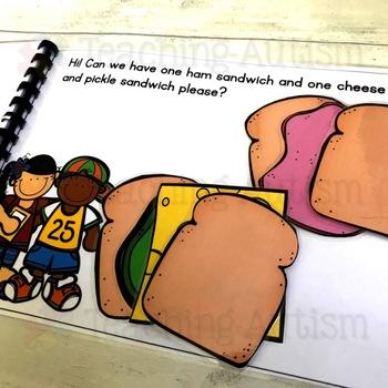Autism Interactive Book Sandwich Building Activity