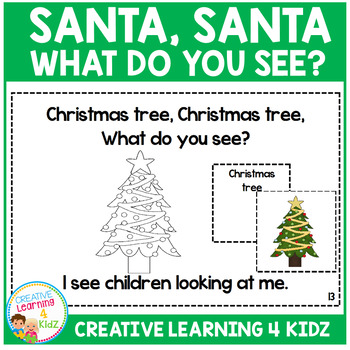 Christmas Santa, Santa What Do You See? Cut & Paste Book