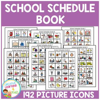 School Schedule Book 192 PECS Autism