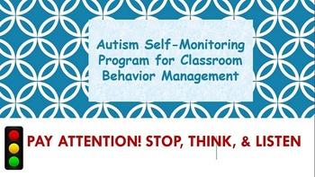 Autism Self-Monitoring Behavior Management Plan