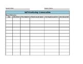 Autism Self-Monitoring Conversation Data Sheet