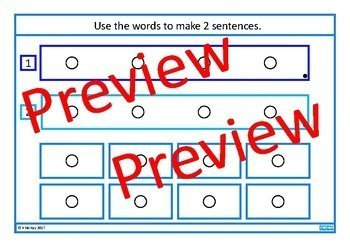 Sentence Building BUNDLE Autism Special Education Speech Therapy
