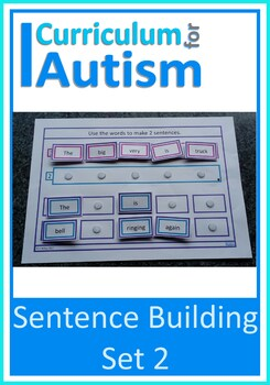 Autism Sentence Making Cards, Special Education, Speech Therapy (Set 2)