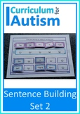 Sentence Building Autism Special Education Speech Therapy (Set 2)