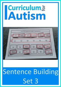 Autism Sentence Making Cards, Special Education, Speech Therapy (Set 3)