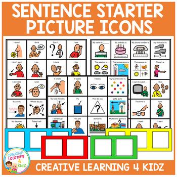 Sentence Starter PECS Cards Autism