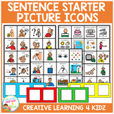 Sentence Starter Picture Icons Special Education Autism