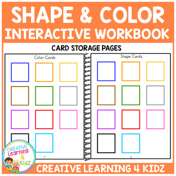 Shape & Color Interactive Workbook + Shape Flashcards