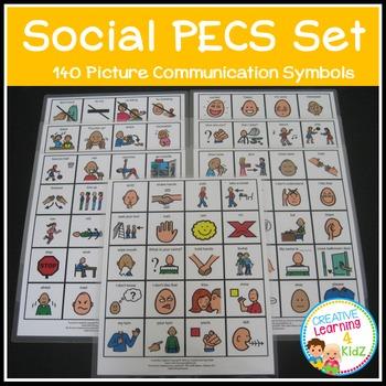 PECS Social Set Visual Schedule Cards Autism