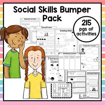 Autism Social Skills Bumper Pack. 215 pages of activities