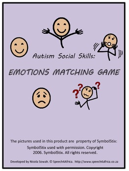 Autism Social Skills: Emotions Matching Game
