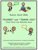 Autism Social Skills: Please and Thank You Social Story an