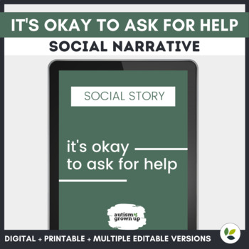 Autism Social Story | Ask for Help