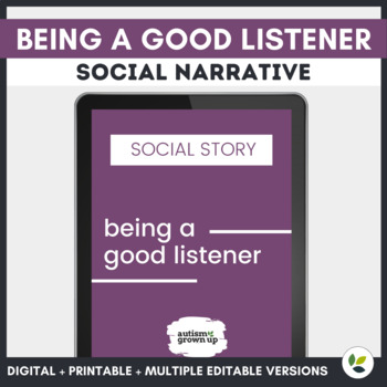 Autism Social Story | Being a Good Listener