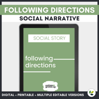Autism Social Story | Following Directions