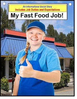 Autism Social Story Job Skills - MY FAST FOOD JOB {Special