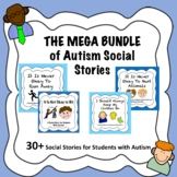 Autism Social Story MEGA Bundle! (43 Stories and Over 1,000+ Pages)