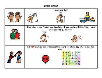 Autism Social Story- Quiet Hands