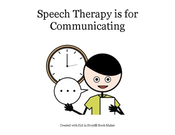 Autism Social Story: Speech Therapy is for Communicating