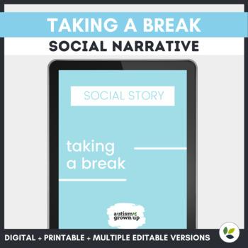 Autism Social Story   Taking a Break