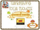 Autism Social Story: Thanksgiving Social Appropriateness
