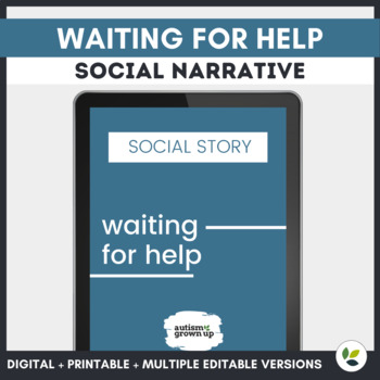 Autism Social Story   Waiting for Help