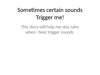 Autism Social Story dealing with trigger sounds (misophoni