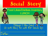 Lunch Interest Likes/Dislikes Inventory  SPED/Autism/ODD/ID/CP