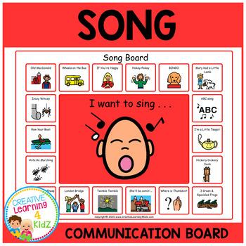 Song Communication Board Visual PECS