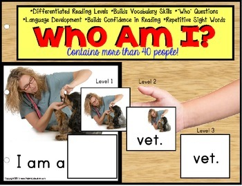 """Autism Special Education Reading Strategies Identifying """"WHO"""" and Data/IEP Goals"""