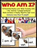 "Autism Special Education Reading Strategies Identifying ""WHO"" and Data/IEP Goals"