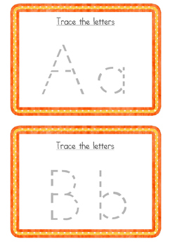 Autism, Special Education, pre school Letter tracing task cards