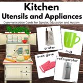 Kitchen Utensils Vocabulary Crads, Pecs for Autism