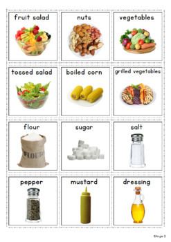 Food Vocabulary Cards for Special Education