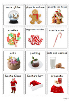 Christmas Vocabulary with Real Life Pictures for Autism