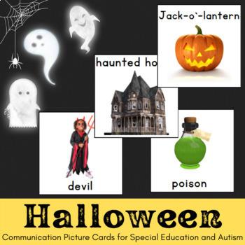 Autism and Special Needs Communication Crads- Halloween