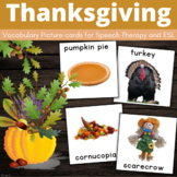 Thanksgiving Cards for Special Education, Autism Visuals