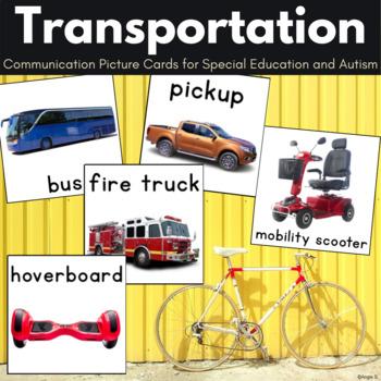 Autism & Special Needs Communication Cards - Transportation