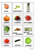 Vegetables Photo Flashcards for Autism, Pecs