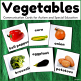 Vegetables Cards for Autism, Pecs, Communication Cards, Vocabulary