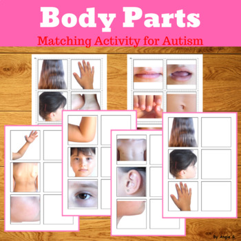#twosunnydeals Body Parts Matching Activity for Special Education