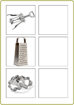 Autism & Special Needs Matching Activity-Kitchen Tools