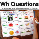 Wh Questions for Speech Therapy and Autism