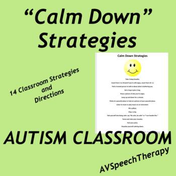Autism:Calm Down Strategies