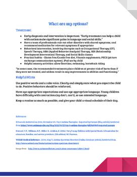 Autism Spectrum Disorder Facts Sheet
